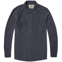 Remi Relief Military Shirt Jacket Navy