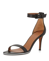 Nadia Leather Ankle Strap Sandal Givenchy Black