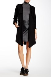 Bobeau Ponte Knit Trench Coat Black