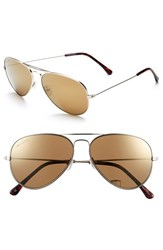 Women's Converse 58Mm Aviator Sunglasses Gold Mirror