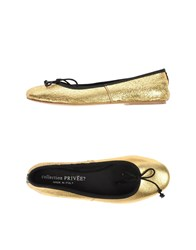 Collection Priv E Footwear Ballet Flats Women Gold