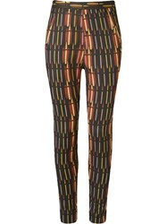Andrea Marques High Waisted Skinny Trousers Black