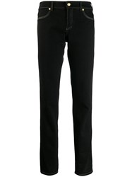 Versace Jeans Couture Contrast Stitching Jeans Black