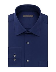 Geoffrey Beene Long Sleeve Point Collar Shirt Navy
