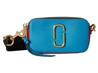 Marc Jacobs Snapshot Color Block Saffiano Small Camera Bag Turquoise Blue Multi Handbags