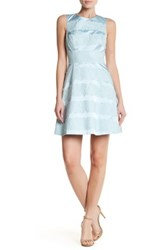 Karen Millen Applied Lace Dress Blue