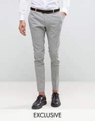 Heart And Dagger Super Skinny Suit Pant In Summer Dogstooth Gray