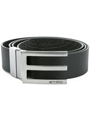 Etro 'E' Buckle Belt Black
