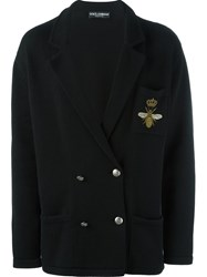 Dolce And Gabbana Double Breasted Cardigan Black