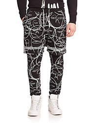 Haculla One Of A Kind Abstract Print Sweatpants Black