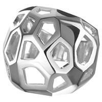Delphine Leymarie Facets Cage Ring Silver