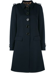Dolce And Gabbana Nautical Buttons Coat Blue
