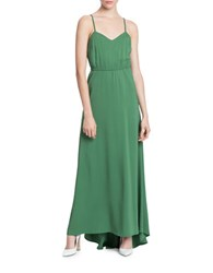 Tracy Reese Shirred Waist Maxi Dress Green