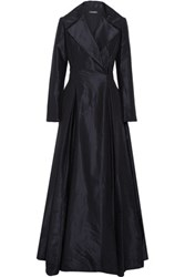 Zac Posen Silk Taffeta Gown Midnight Blue