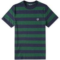 Fred Perry Striped Ringer Tee Green