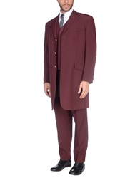 Lubiam Suits Maroon