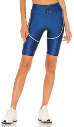 Nike Tech Pack Tight Short In Blue. Coastal Blue And Reflect Black