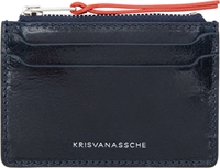 Kris Van Assche Navy Card Holder