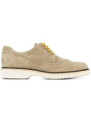 Hogan Suede Brogues Nude And Neutrals
