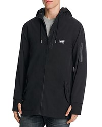 Zanerobe Hooded Zip Front Jacket Black