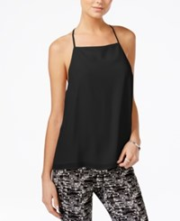Bar Iii Lace Trim Racerback Tank Top Only At Macy's Deep Black