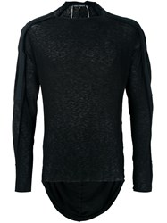 Cedric Jacquemyn Longsleeved Taped Kimono T Shirt Black