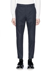 Carven Pinstripe Pants Blue