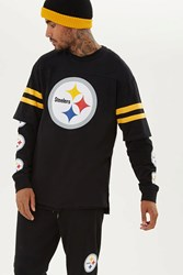 Forever 21 Nfl Pittsburgh Steelers Tee Black Yellow