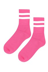 Topshop Sporty Tube Ankle Socks Bright Pink