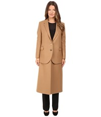 Neil Barrett Hybrid Long Double Layer Wool Coat Camel Women's Coat Tan