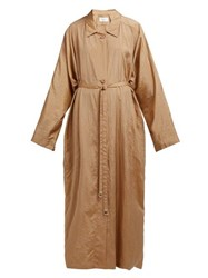 Christophe Lemaire Lightweight Belted Trench Coat Light Brown