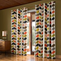 Orla Kiely Multi Stem Eyelet Curtains