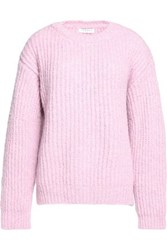 Sandro Ribbed Knit Sweater Baby Pink