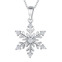 Jools By Jenny Brown Sterling Silver Cubic Zirconia Snowflake Pendant