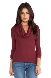 Bobi Thermal Cowl Neck Long Sleeve Red