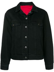 Closed Cropped Denim Jacket Black
