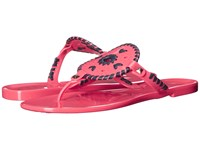 Jack Rogers Georgica Jelly Bright Pink Midnight Women's Sandals
