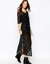 Goldie Karley Maxi Dress In Floral Lace Black