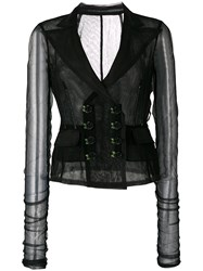 Dolce And Gabbana Mesh Jacket Black