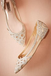 Anthropologie Christianne Flats Ivory