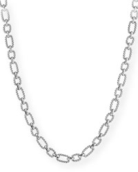 David Yurman Cushion Link Chain Necklace W Blue Sapphires