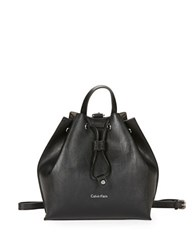 Calvin Klein Jetlink Leather Backpack Black Grey