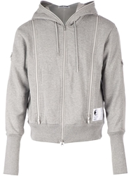 Final Home Zip Detail Hoodie Grey