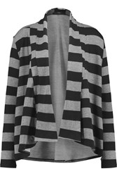 Tart Collections Dee Striped Modal Blend Cardigan Gray