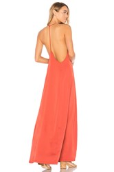 By The Way. Tess Satin Maxi Dress Red
