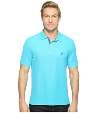 Nautica Short Sleeve Solid Deck Shirt Calypso Blue Men's Short Sleeve Knit