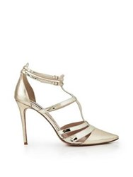 Lucy Choi London Davy T Bar Heel Gold