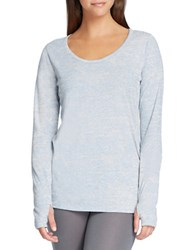 Yummie Tummie Plus Burnout Long Sleeve Tee Plein Air