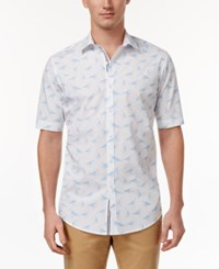 Club Room Men's Graphic Print Shirt Only At Macy's Bright White