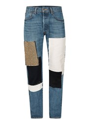 Topman Finds Blue Patchwork Jeans